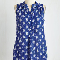 Owls Long Sleeveless Hoot Would Have Thought? Top by ModCloth