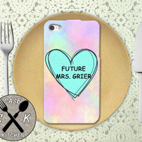 Future Mrs. Grier Pastel Pink Tumblr Candy Heart Cute Custom Rubber Tough Phone Case For The iPhone 4 and 4s and iPhone 5 and 5s and 5c
