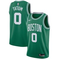 Jayson Tatum Boston Celtics # 0 Nike Green Swingman Icon Edition Jersey - Best Deal Online