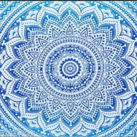 Tapestry Wall Hanging Queen Size Yoga Boho Hippie Indian Mandala Bohemian Ombre