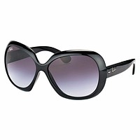NEW RAY-BAN JACKIE OHH II SUNGLASSES RB 4098 601/8G - 60 BLACK GRAY * WOMEN*