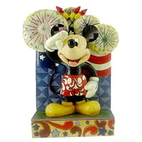 Jim Shore WE SALUTE YOU Stone Resin Mickey Mouse Disney 4016558