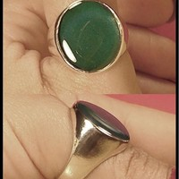 Mood Ring Sterling Silver Men's Large Oval