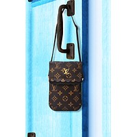 Louis Vuitton LV fashion hot selling lady printing color small bag mobile phone bag #1