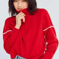 Silence + Noise Double-Knit Half-Zip Pullover Jumper | Urban Outfitters