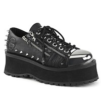Grave Digger 04 Black Chrome Toe Men's Goth Platform Shoe