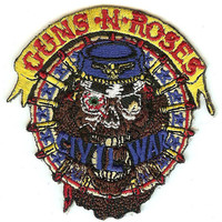 Guns n' Roses Iron-On Patch Civil War Logo
