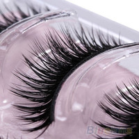 3 Pairs Thick Black Makeup Eyelashes Handmade False Fake Party Soft Eye Lashes = 6014660807