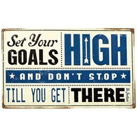 Set Your Goals High Embossed Tin Sign | Shop Hobby Lobby