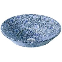 KOHLER Conical Bell Vessel Sink in Biscuit with Garden Bandana Design-K-14223-GB-96 - The Home Depot