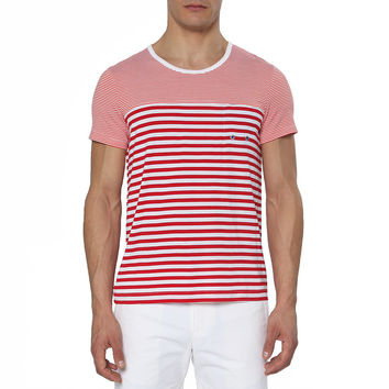 Contrast Striped Jersey Fausto Tee