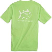 Weathered Skipjack Tee Shirt in Summer Green by Southern Tide