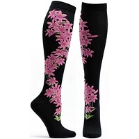 Florals Daylily Knee High Sock