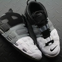 Nike Air More Uptempo 921948-002 Black White Grey For Women Men Running Sport Sneakers 2018