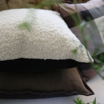 Cormo Chalk Cushion by Designers Guild