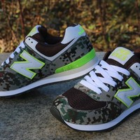 """""""New Balance"""" Sport Casual Camouflage N Words Breathable Unisex Sneakers Couple Running Shoes"""