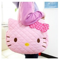 Hello Kitty Quilting Tote / Shoulder Bag : Pink $43.99