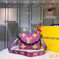 HCXX 19Aug 584 Louis Vuitton LV M67692 Fashion Tote Large Hobe Knit Strap Shopper 25-20-5cm