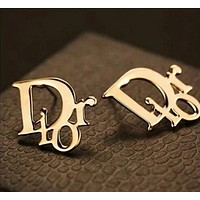 Dior Popular Women Letter Simple Easy To Match Earrings