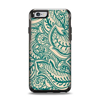 The Delicate Green & Tan Floral Lace Apple iPhone 6 Otterbox Symmetry Case Skin Set