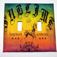 Double Light Switch Cover - Light Switch Plate Sublime