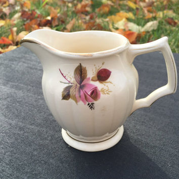 Sadler Pink Floral Cream/Milk Pitcher Vintage Creamer
