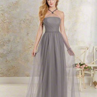 Alfred Angelo 8621L Morning Fog Size 14 Long Bridesmaid dress, evening dress