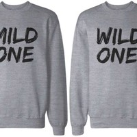 Mild One and Wild One BFF Grey Matching Sweatshirts
