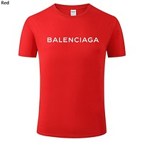 Balenciaga Tide brand men and women breathable round neck half sleeve T-shirt Red