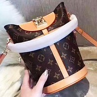 Louis Vuitton LV Fashion New Monogram Leather Crossbody Bag Bucket Bag Shoulder Bag Women
