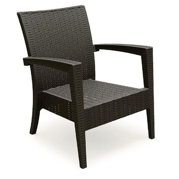 Miami Resin Club Chair Brown (Set of 2)