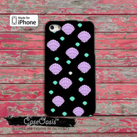 Seashell Mermaid Pattern Pink and Mint Shells Cute Tumblr iPhone 4/4s Case and iPhone 5/5s/5c Case and Wallet Case and iPhone 6 and 6 Plus +