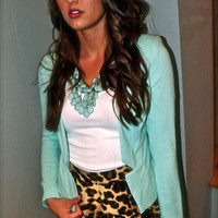 Sophisticated Mint Blazer | The Rage