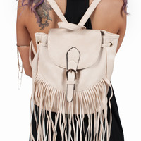 Jenn Fringe Backpack Purse