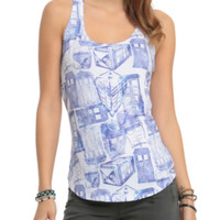 Doctor Who TARDIS Print Girls Tank Top