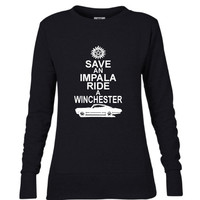 Dean Winchester DOB Ladies Mid-Scoop French Terry Crew-neck Sweatshirt| Supernatural T-Shirt | Date of Birth