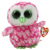 TY Beanie Boos - BUBBLY the Pink & Green Owl (Glitter Eyes) (Regular Size - 6 inch) *Limited Exclusi: BBToyStore.com - Toys, Plush, Trading Cards, Action Figures & Games online retail store shop sale
