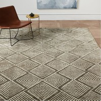 Radiating Diamonds Rug - Wasabi