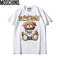 Moschino Woman Men Fashion Cartoon Print Tunic Shirt Top Blouse