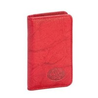 Buxton Snap Card Case, Dark Red, One Size