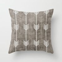 dirty arrows Throw Pillow by Holli Zollinger