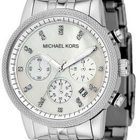 Michael Kors Silver Tone Mother of Pearl Dial MK5020 Watch