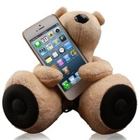 Jarv DJ- Bears Huggy Speakers with Stereo Amplifier for iPhone,iPad, iPod, MP3 players and other devices with Standard 3.5mm Jack, Beige