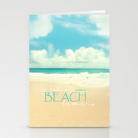 Beach time Stationery Cards by Sylvia Cook Photography