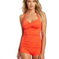 Seafolly Women's Goddess Boyleg Maillot One Piece