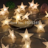 40 LED Party fairy Lights Battery Operated Five-pointed Star light LED Christmas string lights for Outdoor Indoor Xmas Party use
