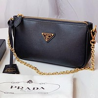 Prada Hobo used bag Armpit bag sportsexy style bag blacck
