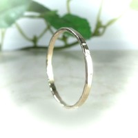 Stacking Ring Gold Hammered