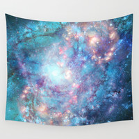 Abstract Galaxies 2 Wall Tapestry by Barruf Designs