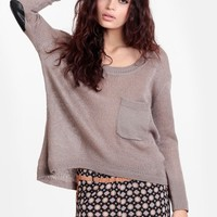 Sworn to Secrecy Elbow Patch Sweater - New Arrivals - Clothing